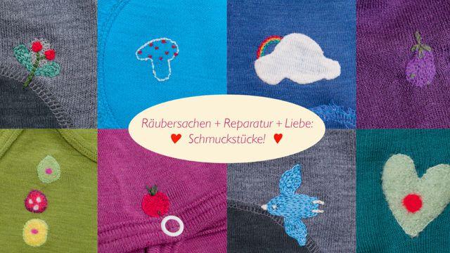 Ramponierte Kleidungsstücke werden liebevoll repariert