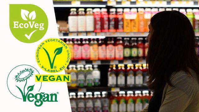 vegan logo zeichen symbol siegel