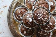 Schokoladen Bananen Muffins.
