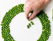 Vegan plate peas