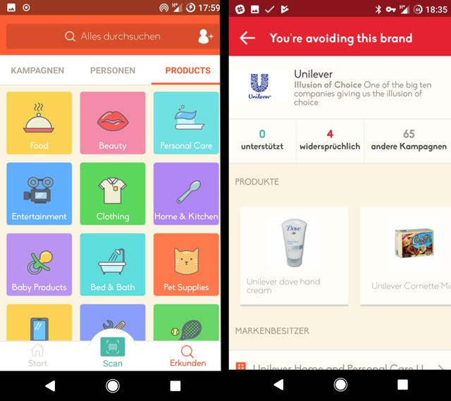 7f04ddd3520610 Konzerne hinter den Produkten entlarven - mit der kostenlosen App