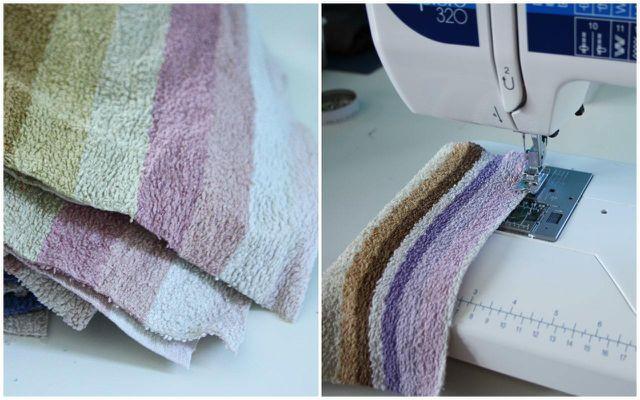 Nähe aus alten Frottee-Handtüchern eine Alternative zum Mikrofasertuch.
