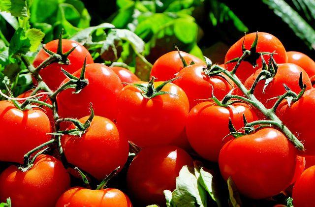 Tomaten sind reich an Lycopin.