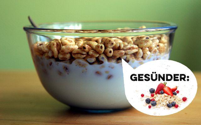 Statt ungesunde Frühstückcerealien: Frisches Müsli