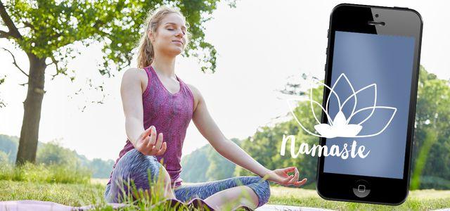Meditations-Apps können beim Entspannen helfen.