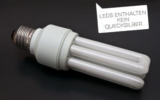 Mit Energiesparlampen kannst du Strom sparen, doch sie enthalten Quecksilber – lieber LEDs wählen!