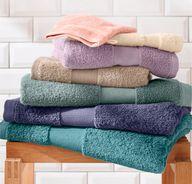Bei Hessnatur gibt es auch Waschlappen aus Bio-Baumwolle.