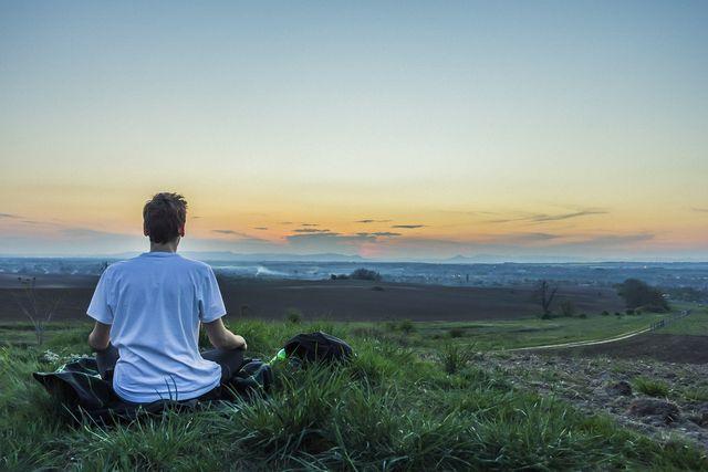 Auch im Freien kannst du ungestört meditieren.