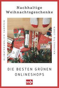 eihnachtsgeschenke & -schmuck in grünen Onlineshops (Liste)