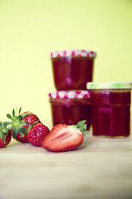 Selbst gemachte Erdbeermarmelade