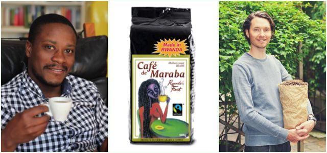 Allan Mubiru, Xaver Kitzinger riefen die Kaffee-Kooperative ins Leben
