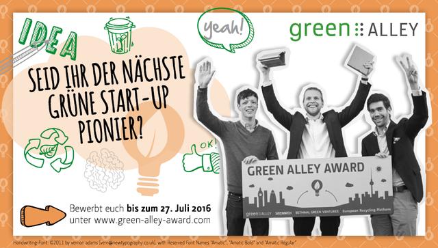 Green Alley Award 2016 - Circular Economy