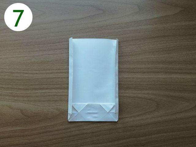 Papiertüten basteln: Schritt 7