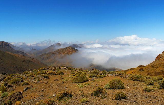 Rhassoul wird nur im Atlasgebirge in Marokko abgebaut.