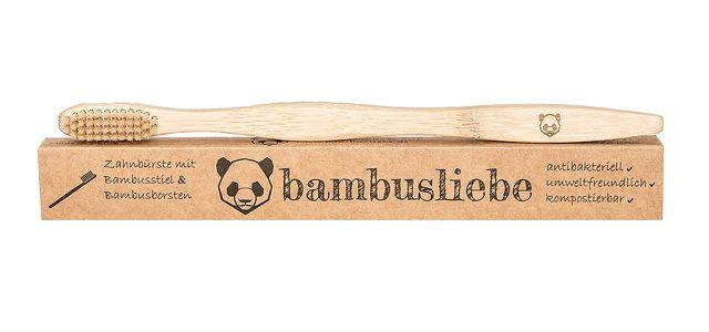 Die Zahnbürsten von bambusliebe haben eine leicht wellenartige Form.