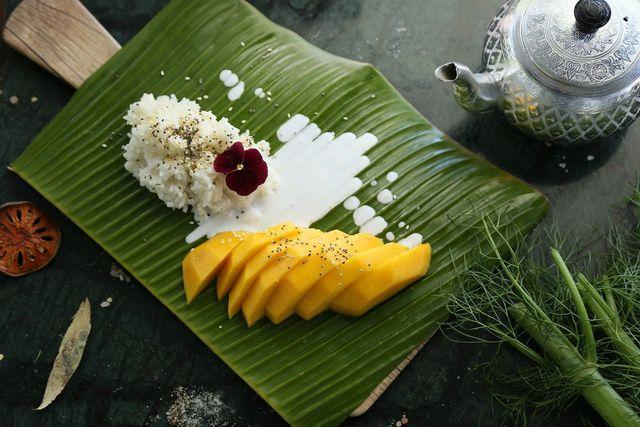 Klebreis wird vor allem in thailändischen Gerichten verwendet.