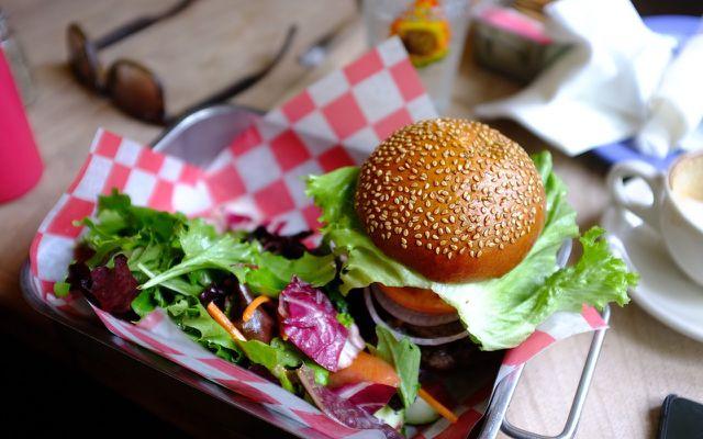 Vegan tofu burger