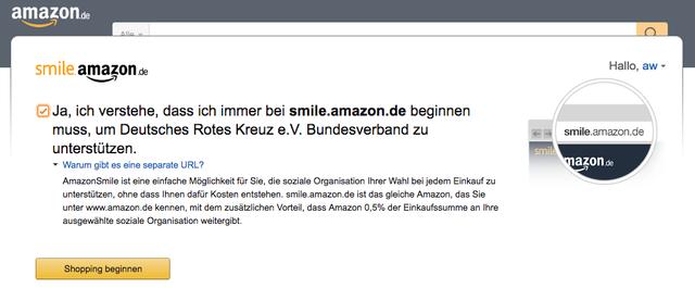 Amazon Smile: Spenden (fast) nebenbei