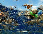 Plastic in the ocean pollution waste