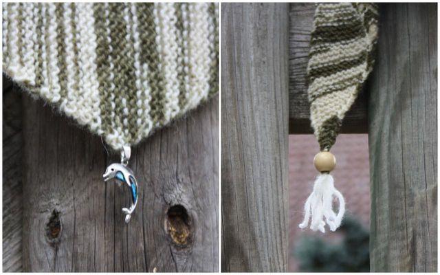 Verziere die Ecken von deinem Tuch mit Perlen oder einem Schmuckanhänger.