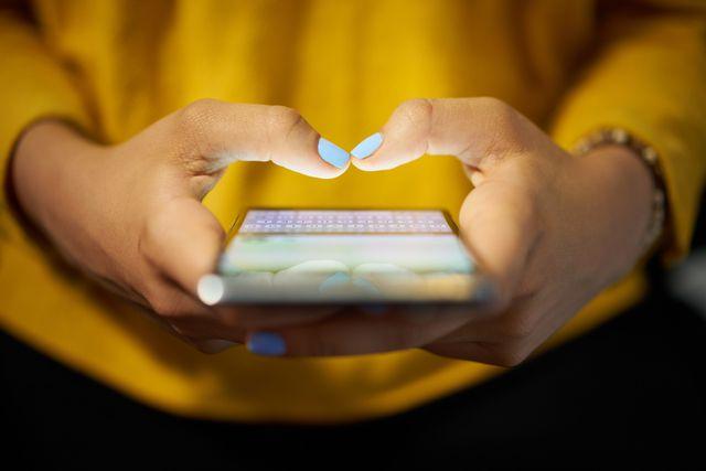 Smartphone Nachricht schreiben