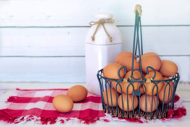 Auch tierische Produkte wie Eier und Milch gehören zum Notvorrat.