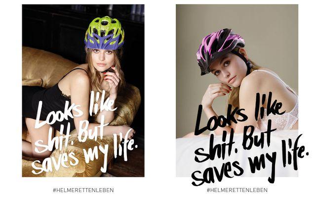 Sexistische Werbung Fahrradhelm