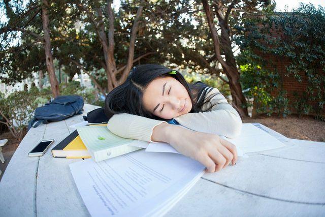 Ein kurzes Power-Nap im Freien gibt dem Körper neue Energie.