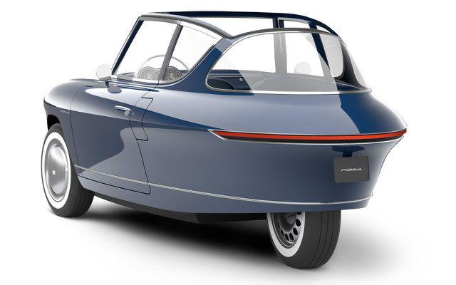 Das Elektroauto Nobe 100 kommt mit drei Rädern aus