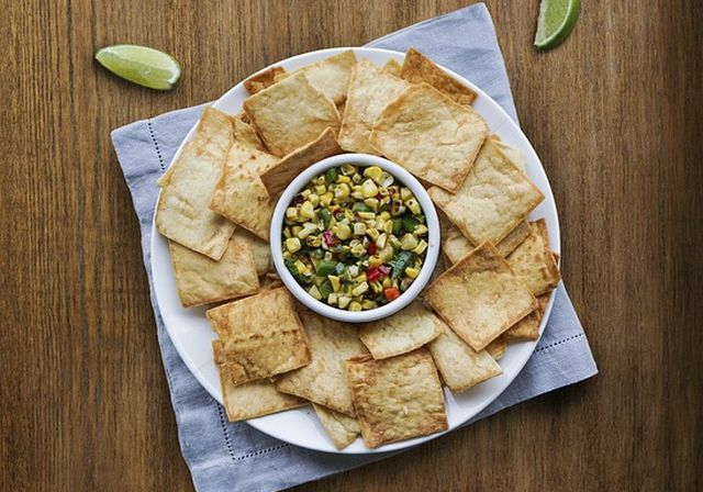 Veganes Fingerfood: Chips aus Pita-Brot.