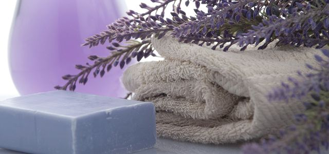 Bad Seife Handtuch Lavendel