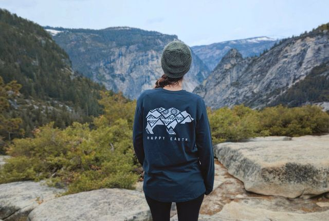 Get out and explore in your Happy Earth Apparel