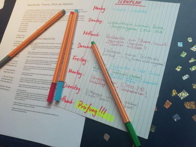 Mit einem gut überlegten Lernplan hast du die erreichten Etappen immer im Blick.