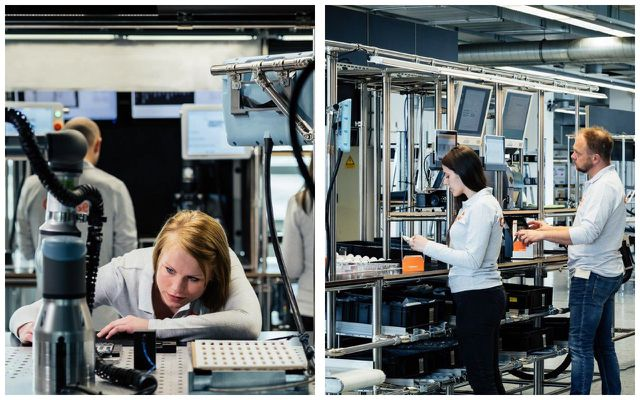Weitgehend automatisierte Produktion beim Gigaset GS185