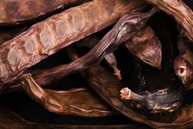 Schoten des Carobbaum