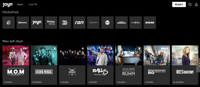Joyn.de ist eine Netflixalternative, die mit vielen privaten Fernsehsendern kooperiert.