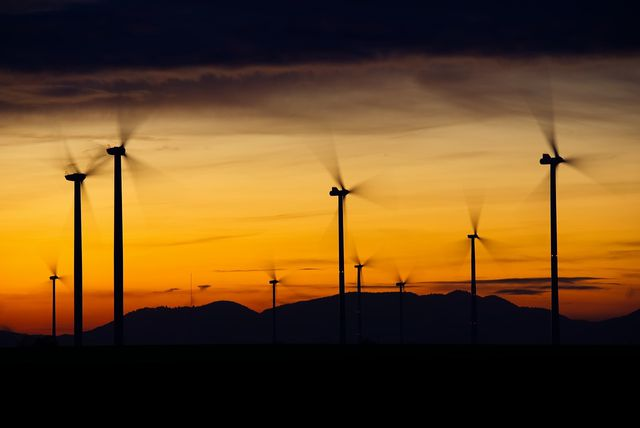 Viele Klimaschutzprojekte fördern den Ausbau erneuerbarer Energien.