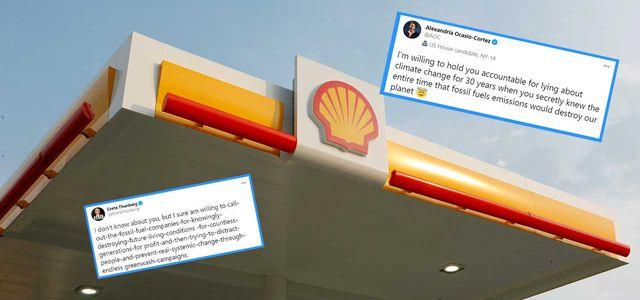 Shell, Twitter, Greta Thunberg, Alexandria Ocasio-Cortez