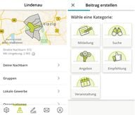 nebenan.de: Bedienung/Beitrag