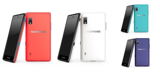 Fairphone 2 mit verschiedenen anderen Covern