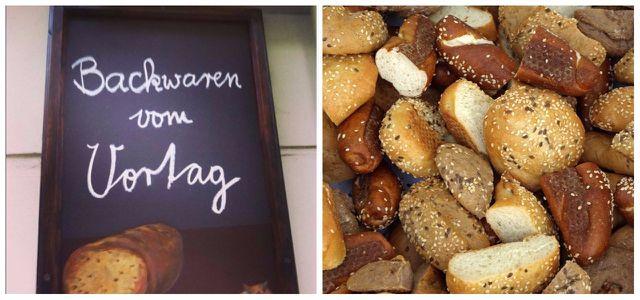 Brot und Backwaren vom Vortag
