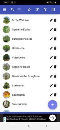 "So funktioniert die App ""Bäume""."