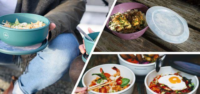 Essen-to-go mit Mehrwegschalen von Rebowl, Vytal und reCIRCLE