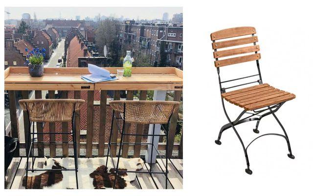 balkonbar stuhl balkonmöbel holz