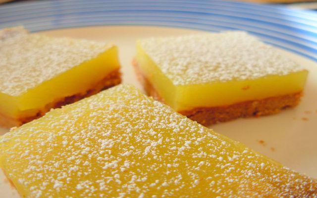 gluten-free lemon bar