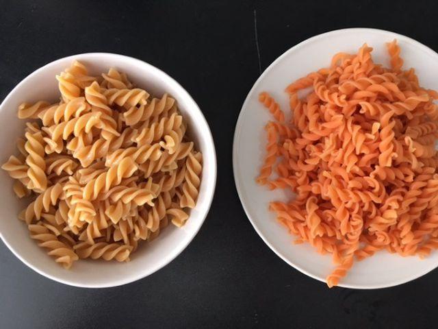 Pasta aus Hülsenfrüchten: Linsen und Kichererbsen