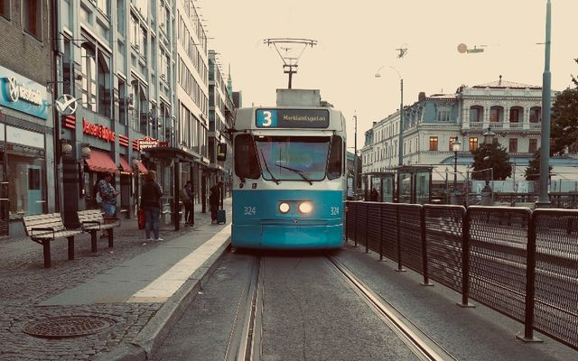 Public transporation streetcar tram