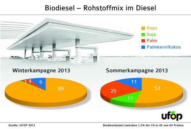 Biodiesel - Rohstoffmix im Diesel