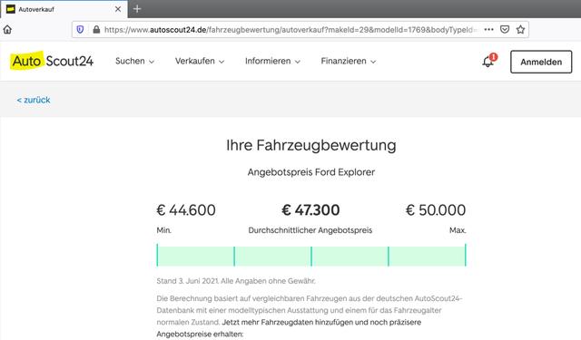 autoscout24.de gibt dir eine Preisspanne, an der du dich orientieren kannst.