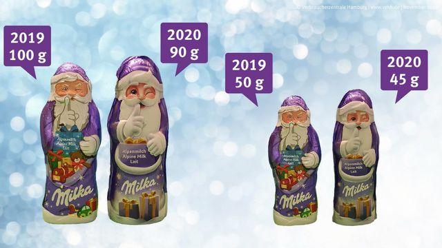 Milka, Schokolade, Weihnachtsmann, Verbraucherzentrale Hamburg